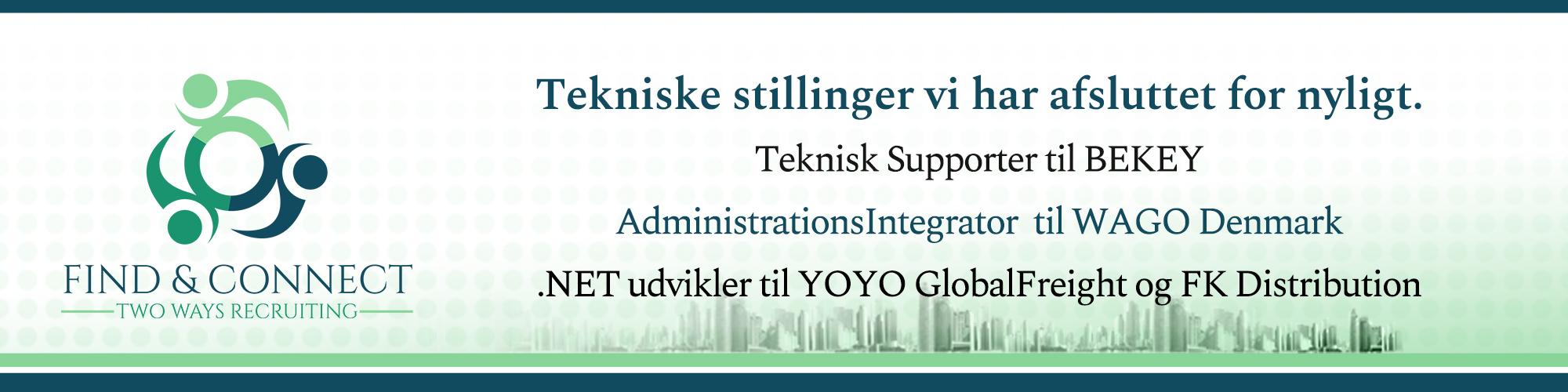 .NET udvikler, ApplikationsIntegrator, Teknisk Supporter